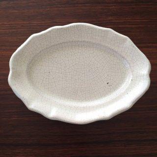 フランスアンティーク 厚手のキュノワールオーバル皿