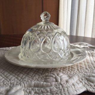 フランスアンティーク ガラスのクロッシュ