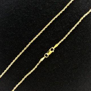 10K Yellow Gold ロープチェーン(1.5mm×45cm)