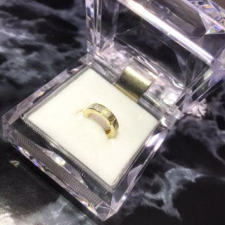 【10K Yellow Gold】スモールジルコニアフープピアス[Unisex]