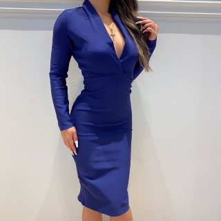 【予約商品】ディープVネックバンテージドレス