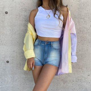 ブロックカラーオーバーサイズシャツ