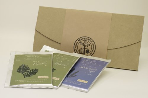 熊野の香り バスエッセンス 3袋(ヒノキ2・スギ1)小箱入りセット(粉末入浴料)