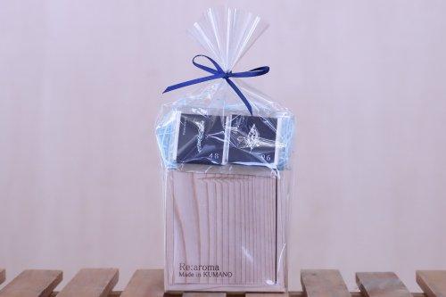 熊野の香り 4896(チョコ1ペア)&熊野杉Shibahara木箱入りアロマオイルのセット