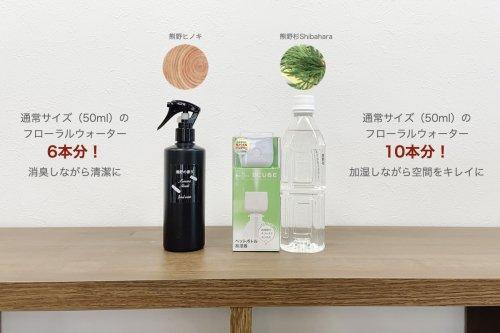 熊野の香り芳香蒸留水付き加湿器とスプレーセット【10セット限定】
