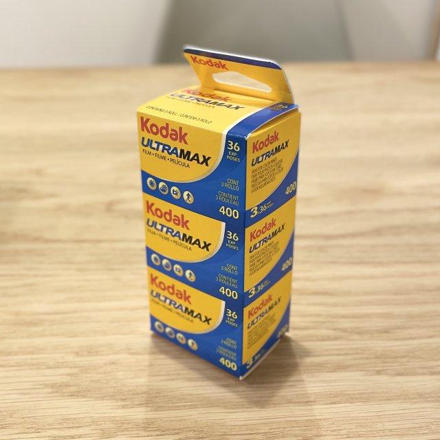 Kodak ULTRAMAX 400 36枚撮り3本パック 35mmFilm