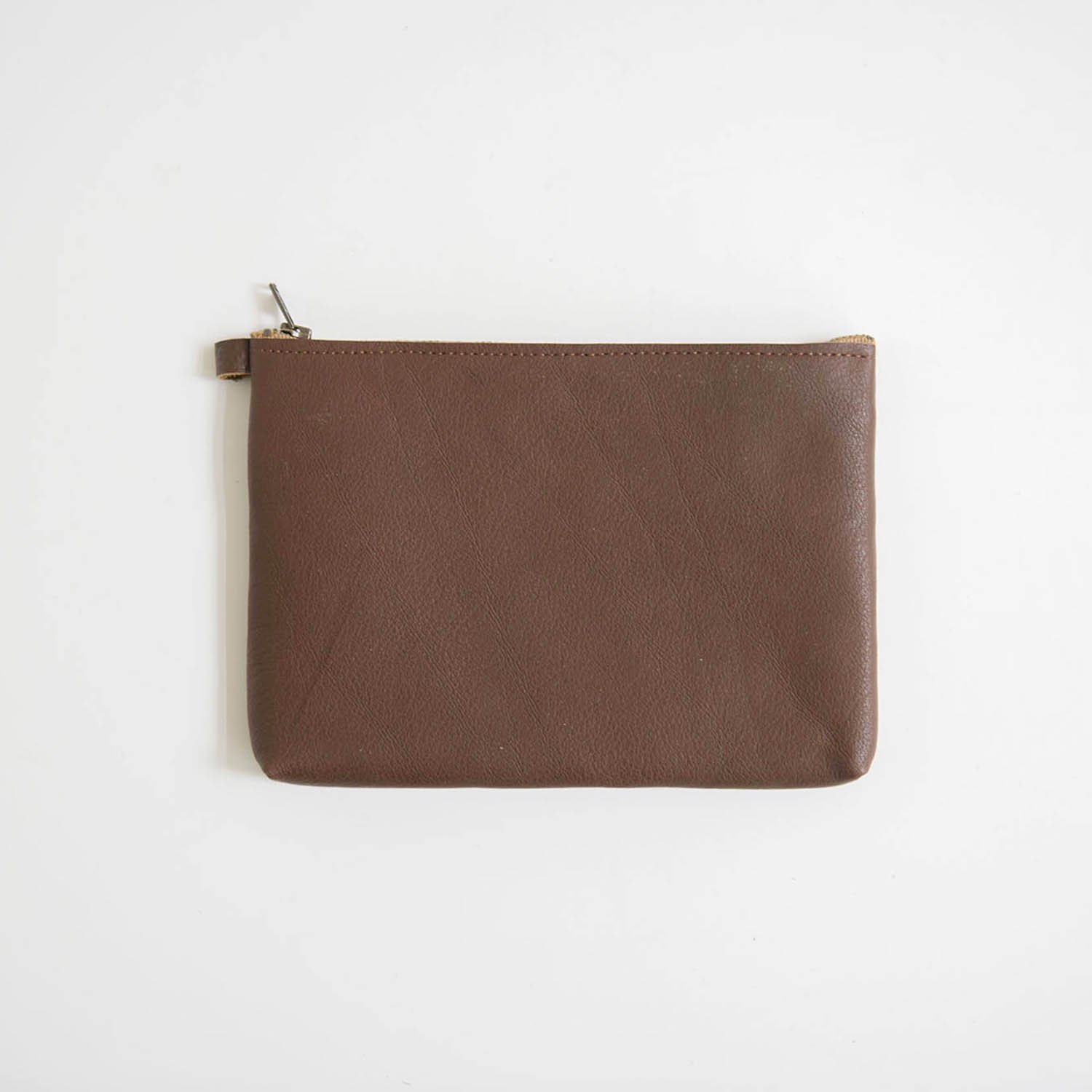 Leather pouch L Brown
