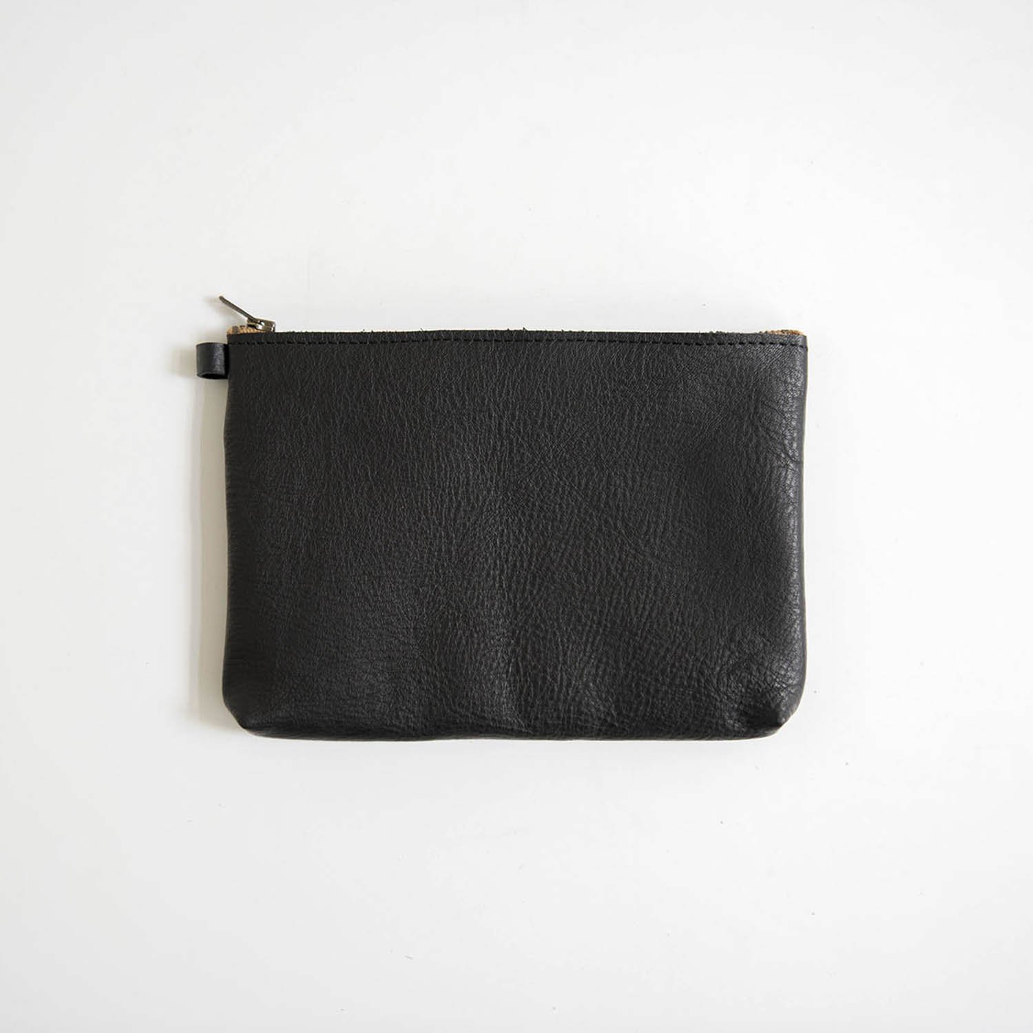 Leather pouch L Black