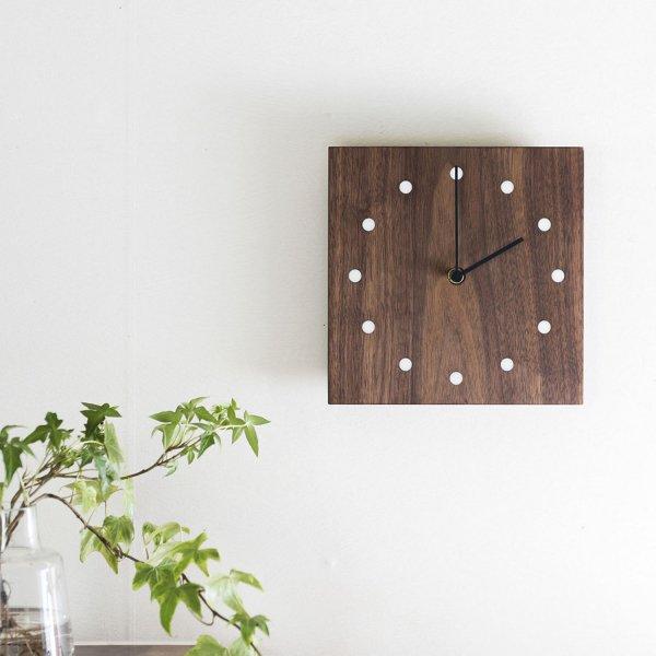 Wall Clock Square ウォルナット