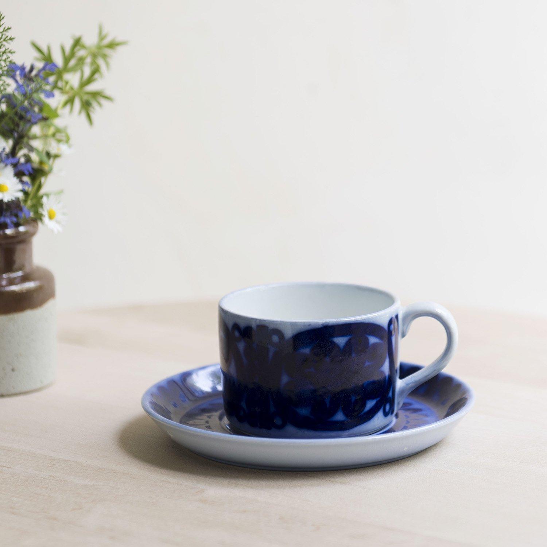 """Stig Lindberg"""" Blahusar """" cup & saucer"""