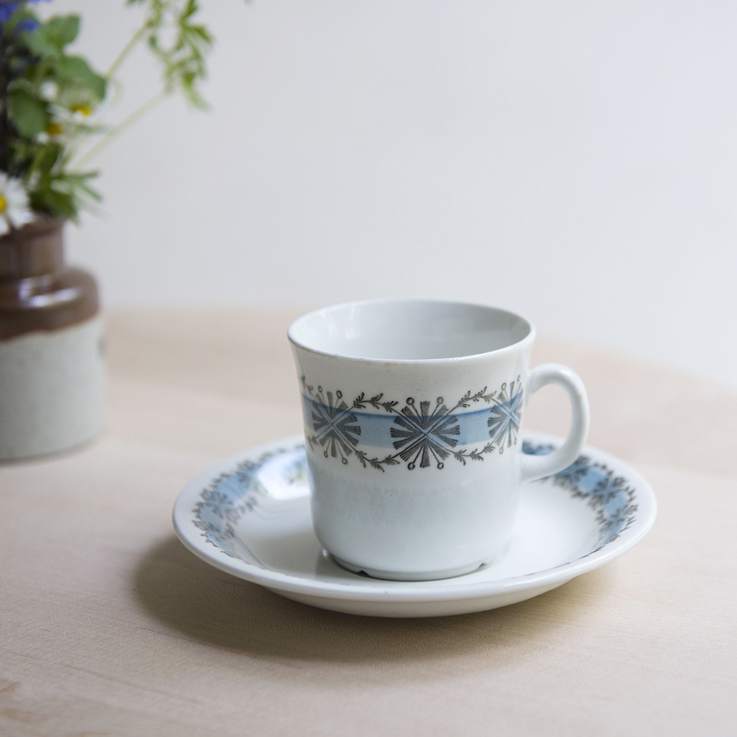 "Gefle ""V?rblomma"" coffee cup and saucer"