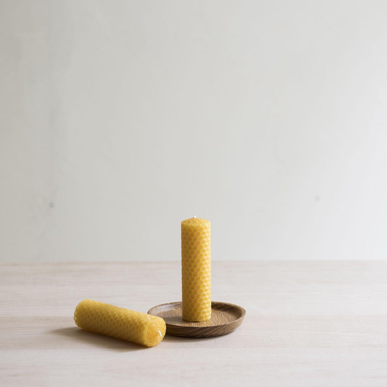蜜蝋キャンドル honeycomb φ30×h100mm