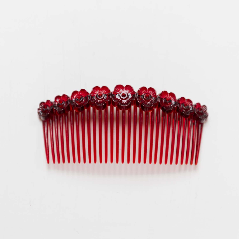 Vintage hair comb flower
