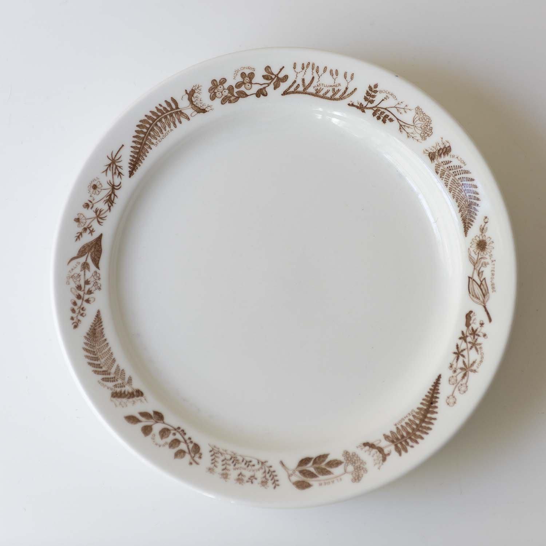Stig Lindberg Medicinalväxter Dinner Plate (brown) 23cm
