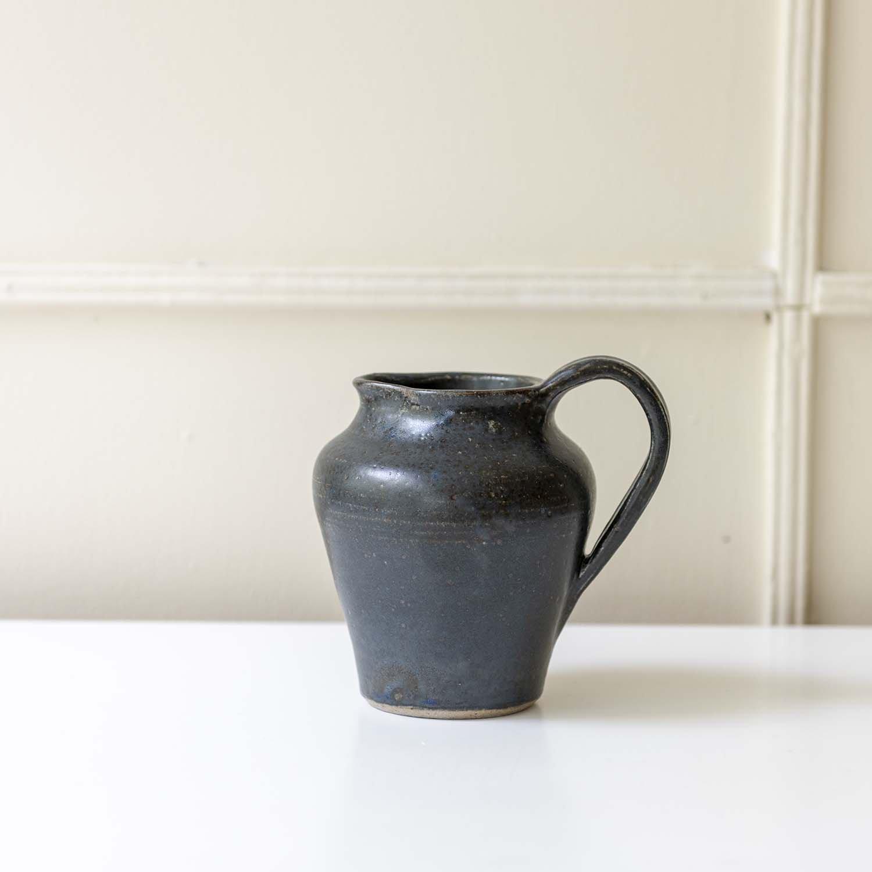 Vintage Stoneware Pitcher blue