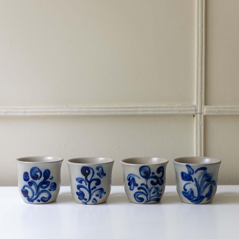 Salt Grazed Pottery Mug