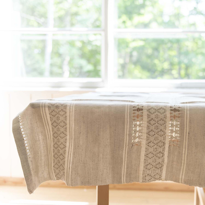 Linen Hand Woven Table Cloth