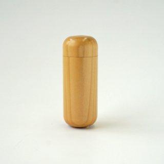 カラー木製(小)丸型印籠 本体 単品