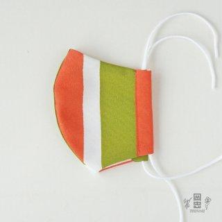 和柄のマスクーテトロン縦縞3色ー(立体型2層)1枚入り ※ネコポス対応