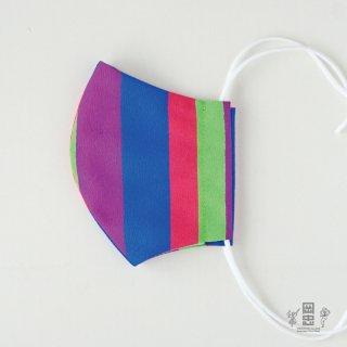 和柄のマスクーテトロン縦縞4色ー(立体型2層)1枚入り ※ネコポス対応