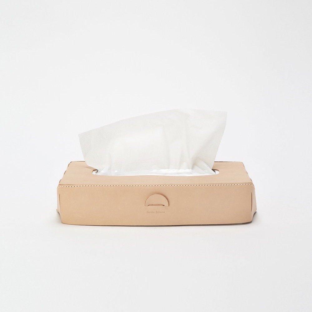 Hender Scheme<br />tissue box case<br />[ Natural / Black ]
