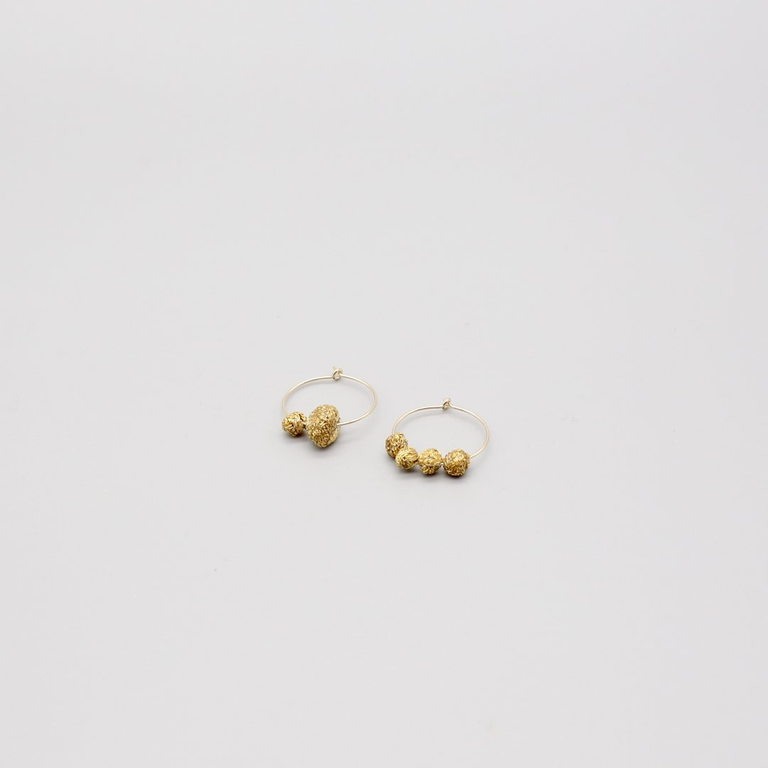 Suno&Morrison <br />Gold Stone Circle Pierce