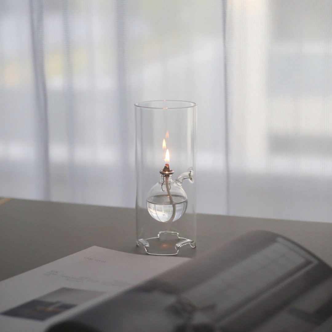 CZECH HAND MADE OIL LAMP<br />チェコのオイルランプ [L]
