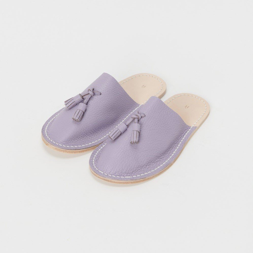 Hender Scheme <br />leather slipper S  (Purple)
