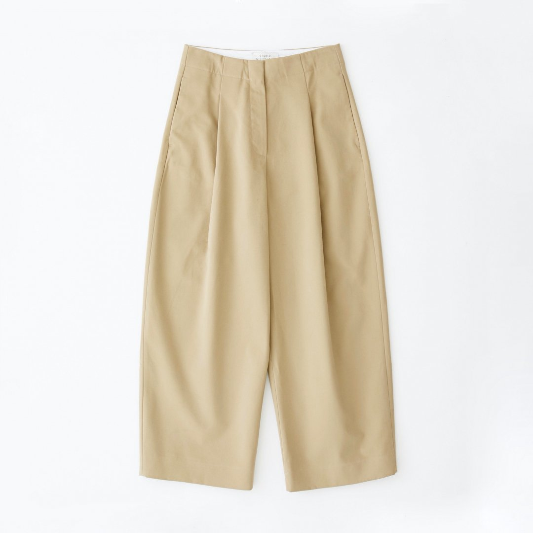 STUDIO NICHOLSON<br />DORDONI VOLUME PANT IN TAN