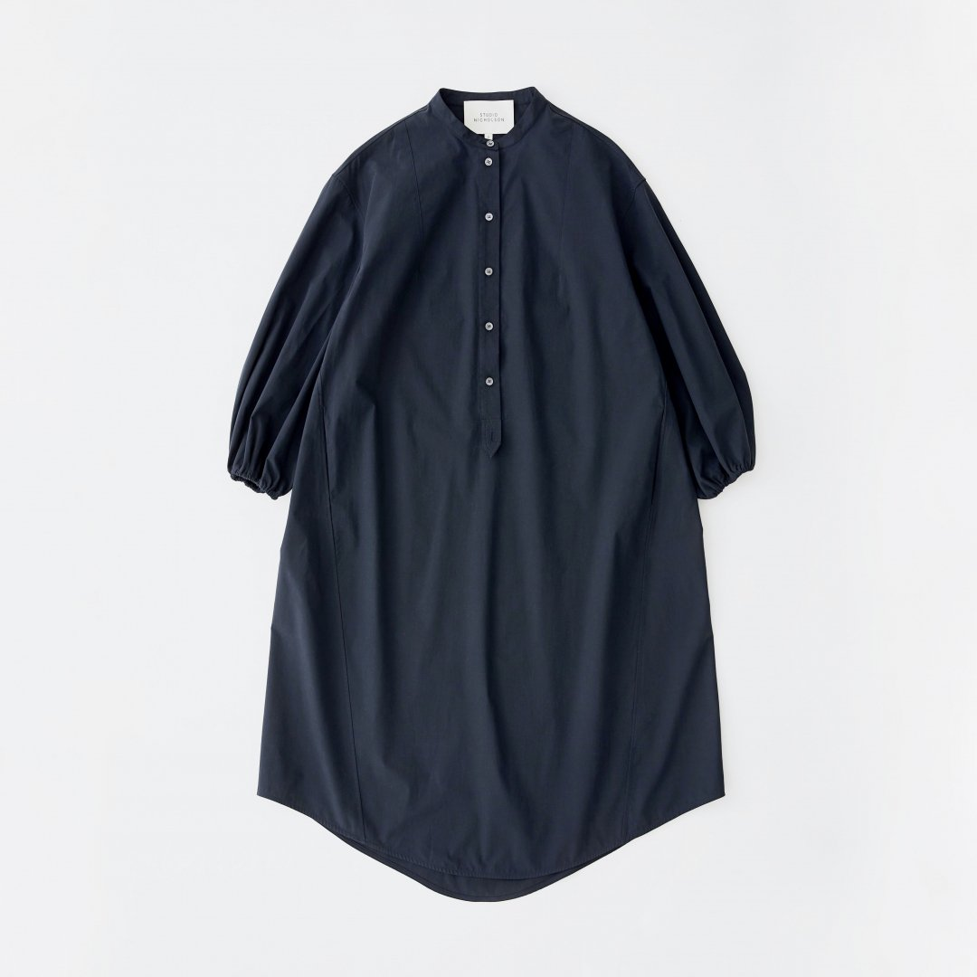 STUDIO NICHOLSON<br />VILLEROY SHIRT DRESS IN DARK NAVY