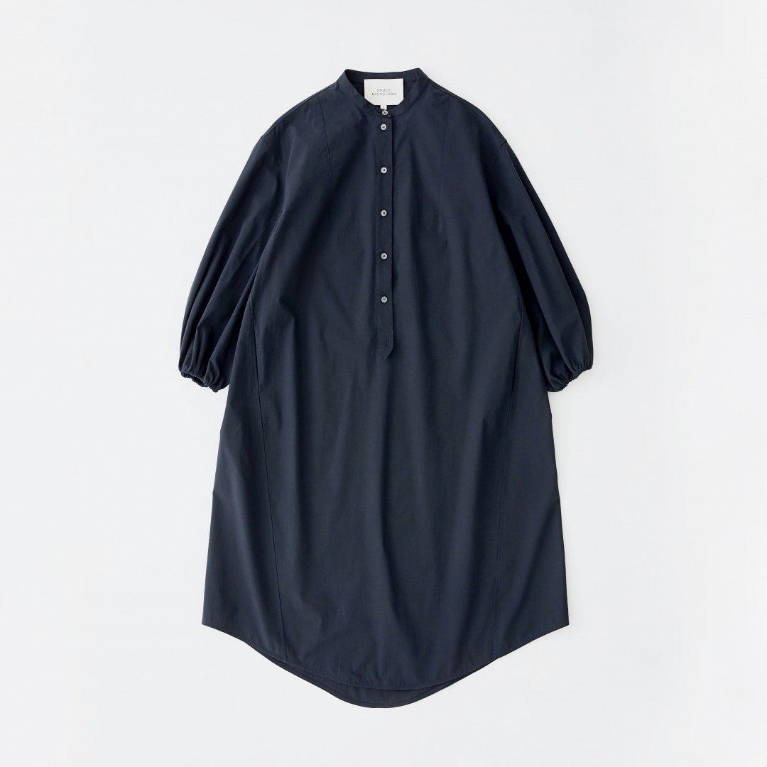 STUDIO NICHOLSON<br />VILLEROY SHIRT DRESS IN DARK NAVY
