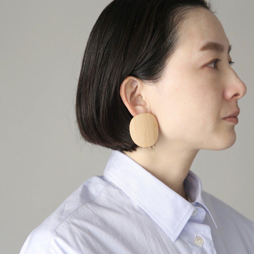 _Fot<br />plywood oval earrings (Earring)