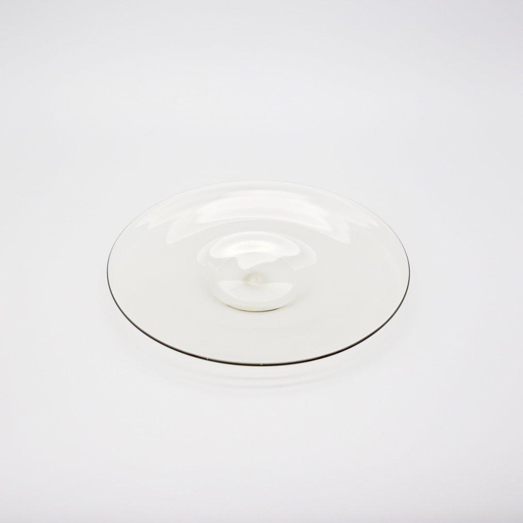 WASHIZUKA GLASS STUDIO<br />plate 210(smoke)