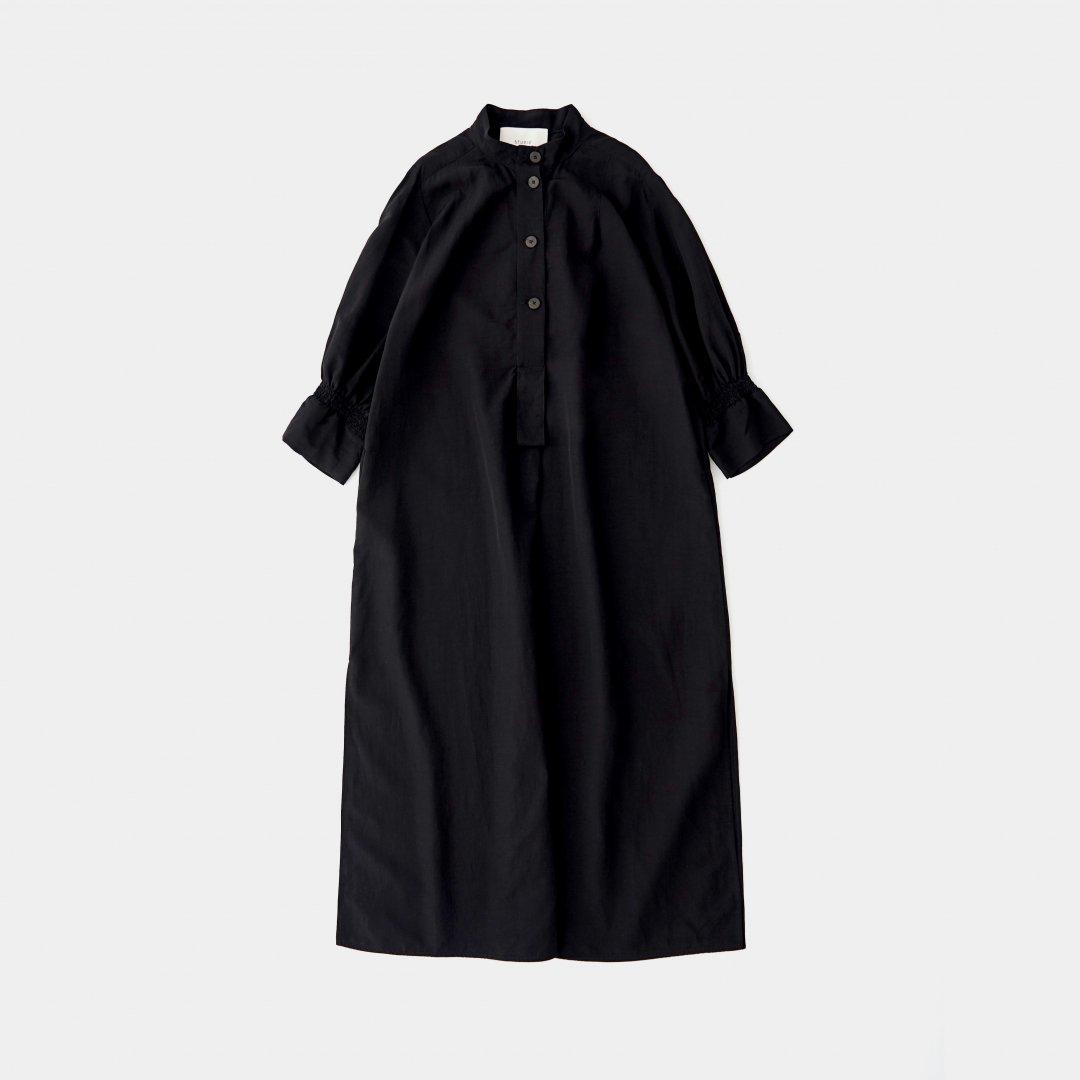 STUDIO NICHOLSON<br />KNOLL DRESS IN BLACK VISCOSE LINEN