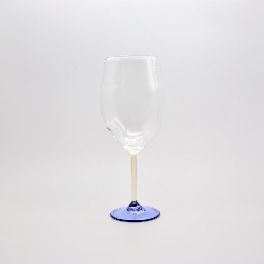 Jochen Holz<br />Wine glass(Light Yellow×Blue)