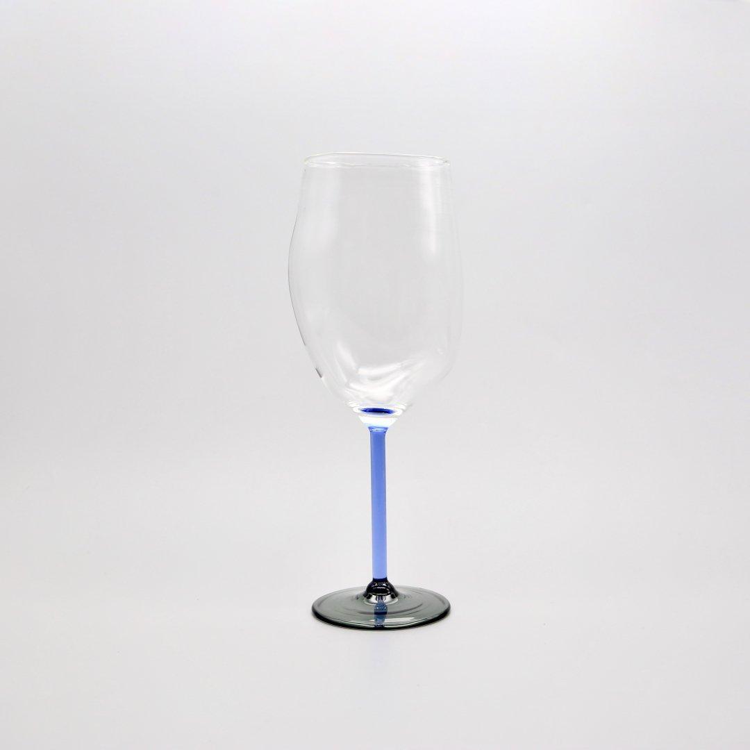 Jochen Holz<br />Wine glass(Blue×Gray)