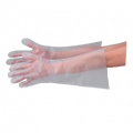 エブノ No.306 ポリグローブエンボスロング 48cm 半透明 フリー 袋入 100枚 外エンボス 使い捨て手袋
