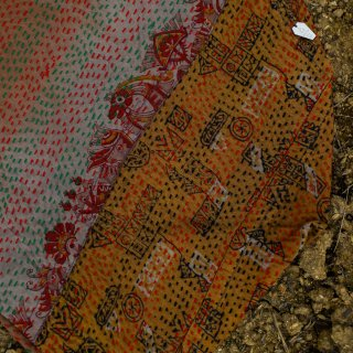 WONDER FULL LIFE:BOTANICAL BAG / KANTHA No.15 (small)
