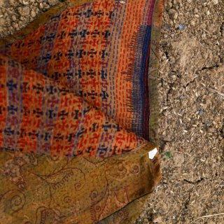 WONDER FULL LIFE:BOTANICAL BAG / KANTHA No.19 (small)