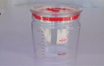 密閉ガラス容器(1000ml)耐熱120度