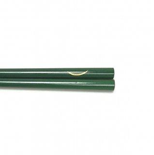 玉虫塗 箸(緑) 仙臺弦月柄