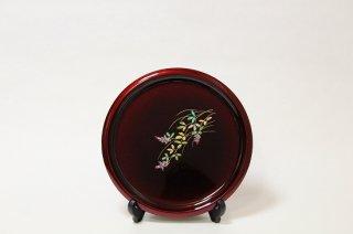 玉虫塗 渕太丸盆8寸<萩>