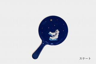 手鏡(小) 【藍】玉虫塗