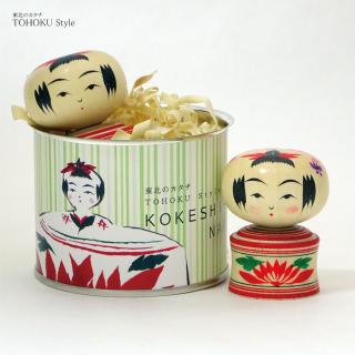 こけし缶 柿澤是伸 鳴子系