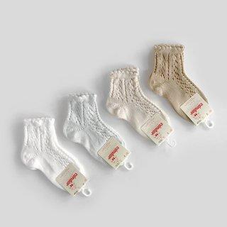 condor|Perls Openwork Short Socks | 4Y-6Y