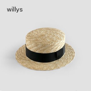 <img class='new_mark_img1' src='https://img.shop-pro.jp/img/new/icons20.gif' style='border:none;display:inline;margin:0px;padding:0px;width:auto;' />【40%OFF】 Willys  | Canotier Kids | Black | 48-54