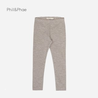 【40%OFF】 Phil&Phae | LEGGINGS STRIPES | straw |  18m-2y