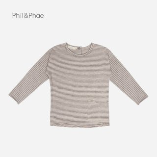 【40%OFF】 Phil&Phae | RAW-EDGED TOP STRIPES L/S | straw |  6-12m/18mのみ