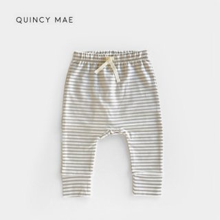 【40%OFF】 Quincy Mae | Drawstring Pants  | fog stripe (6-12m)-(12-18m)