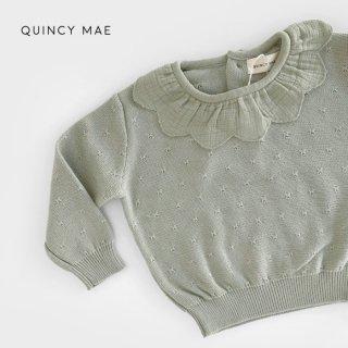 【40%OFF】 Quincy Mae | Petal Knit Sweater | sage (18-24m)のみ